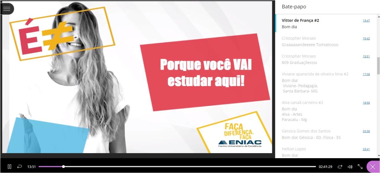 Alunos novos iniciam as aulas em novembro e elogiam o acolhimento do ENIAC